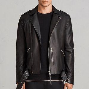 Allsaints Kaho Sheep Leather Biker Jacket